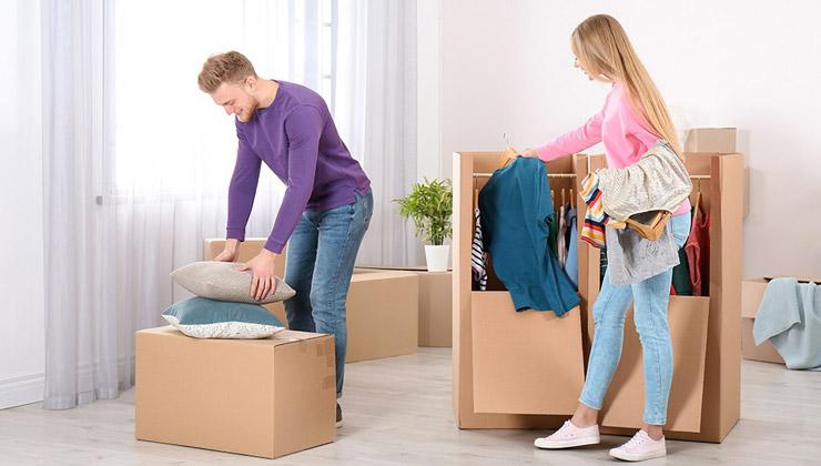بسته بندی لباس ها برای جا به جایی اسباب کشی